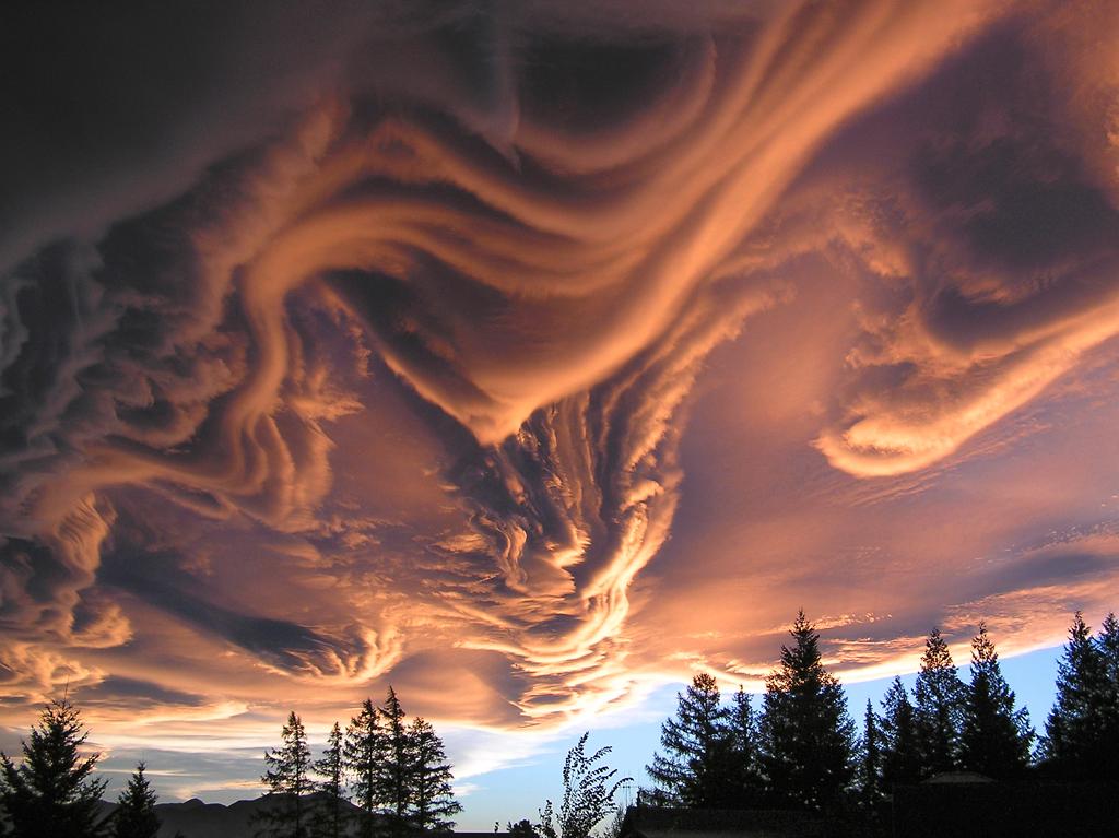 Orange Flowing Clouds