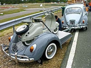 VW Bug with Trailer